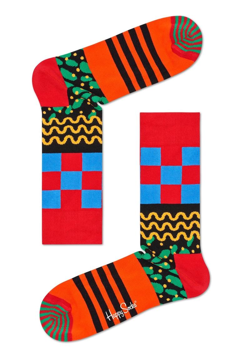 Sosete lungi unisex cu diverse modele de la Happy Socks