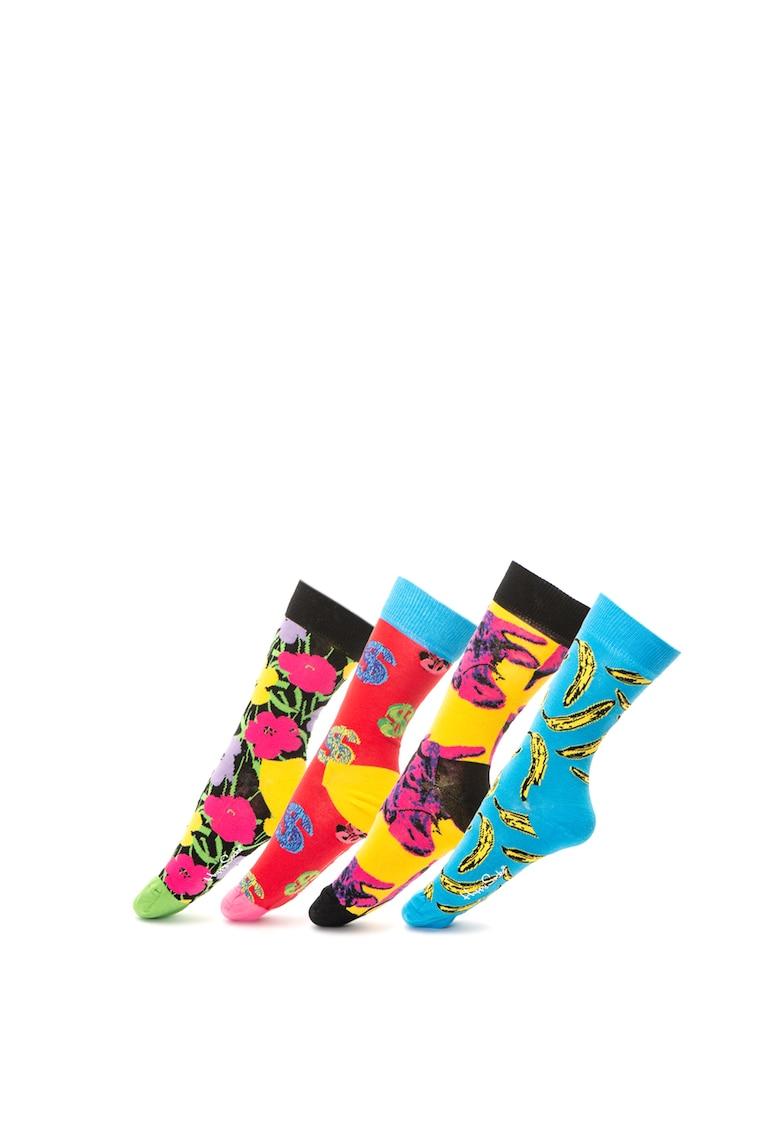 Set de sosete unisex Happy x Andy Warhol – 4 perechi de la Happy Socks