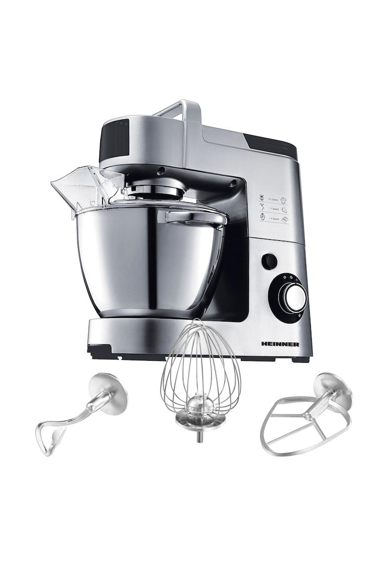 Mixer cu bol Master Collection - 1500 W - Bol 5.5 l - 6 Viteze - Argintiu/Negru imagine fashiondays.ro 2021