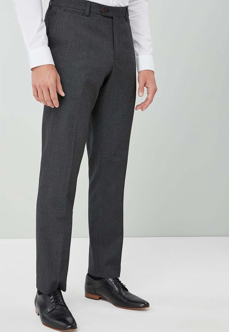 Pantaloni eleganti regular fit din amestec de lana