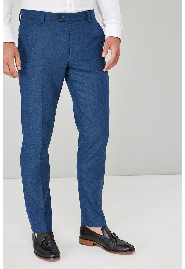 Pantaloni slim fit eleganti din amestec de lana de la NEXT