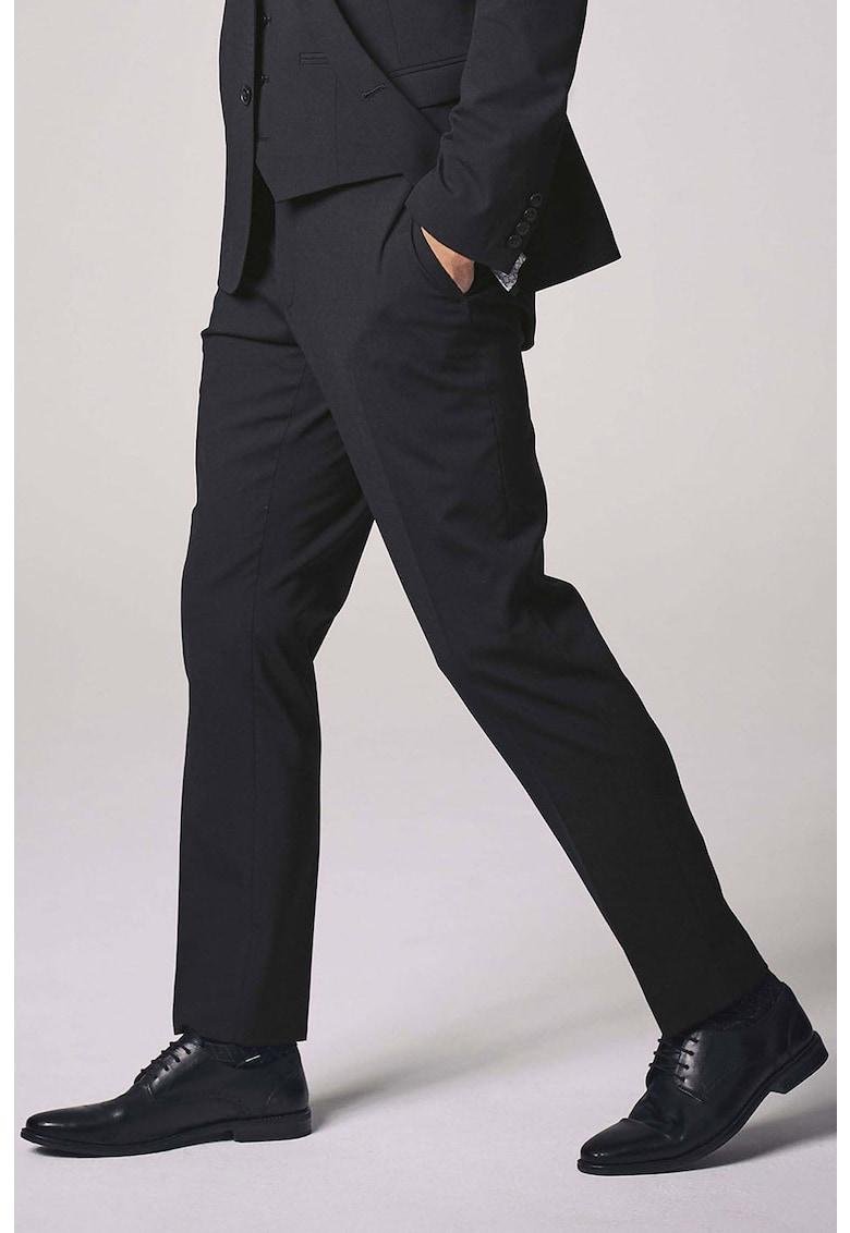 Pantaloni slim fit eleganti din amestec de lana 3