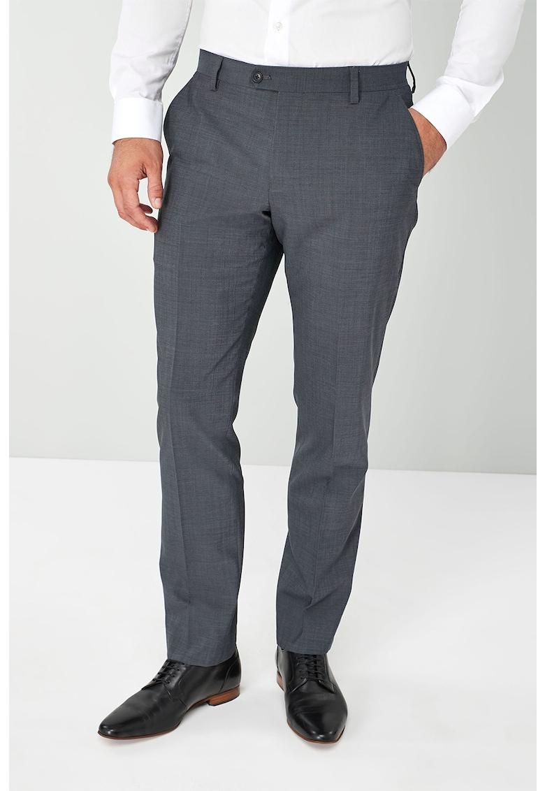 Pantaloni eleganti conici din amestec de lana