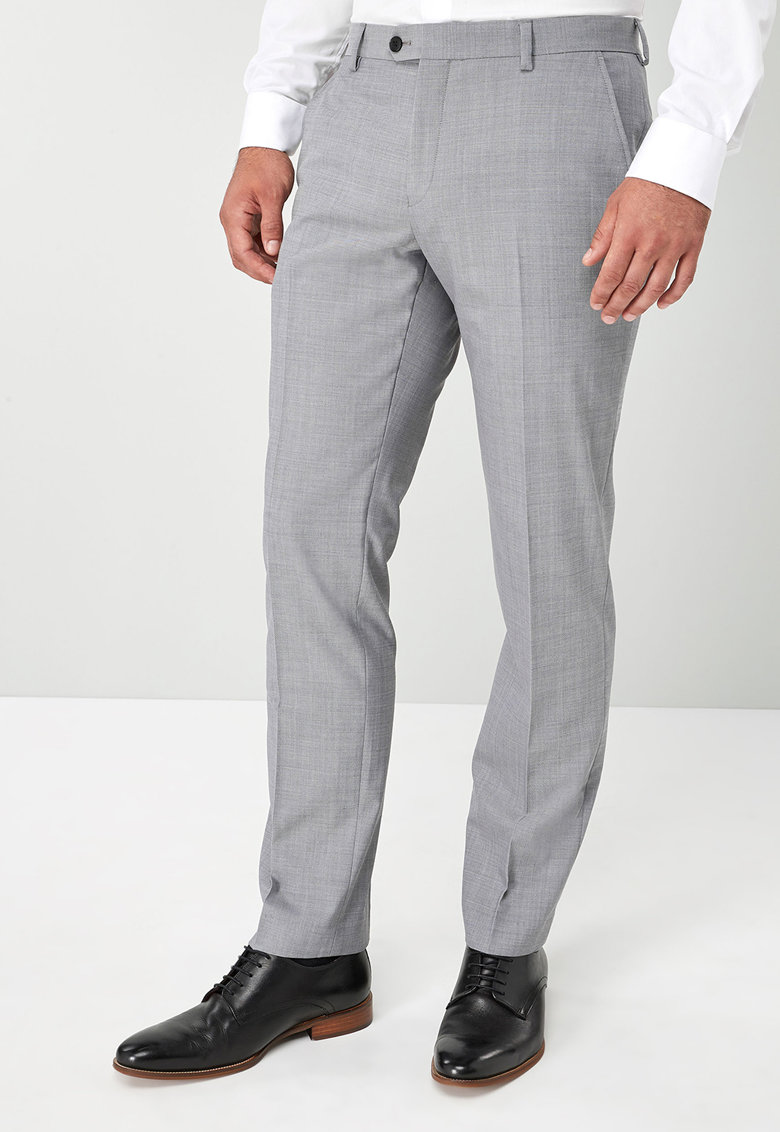 Pantaloni eleganti tailored fit din amestec de lana de la NEXT