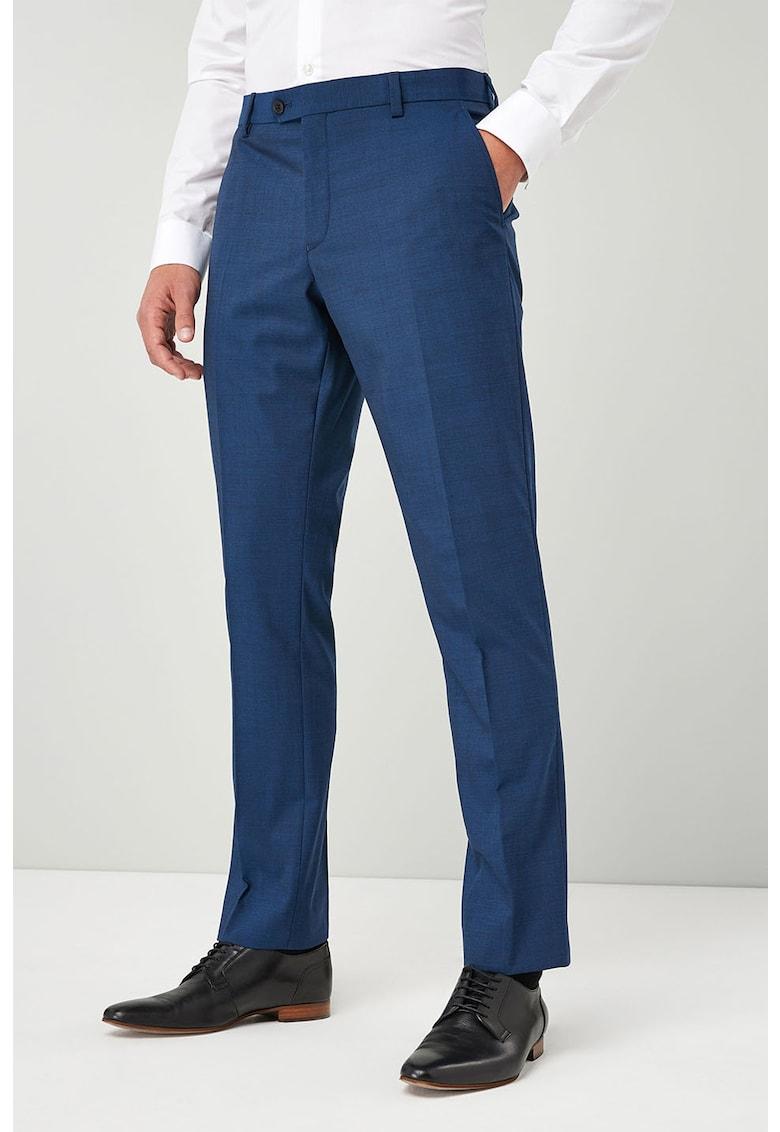 Pantaloni tailored fit eleganti din amestec de lana