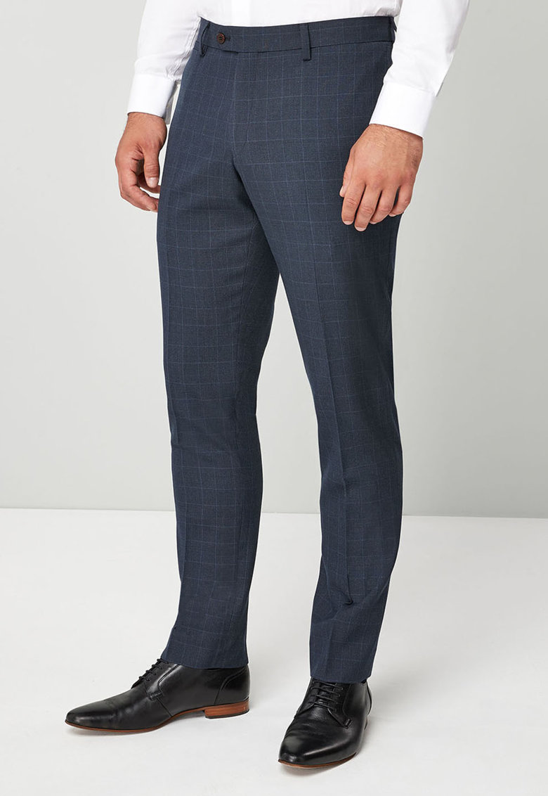 Pantaloni eleganti slim fit din amestec de lana