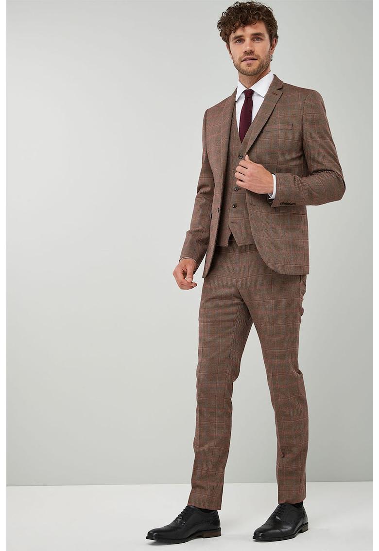 Sacou skinny elegant cu model in carouri NEXT