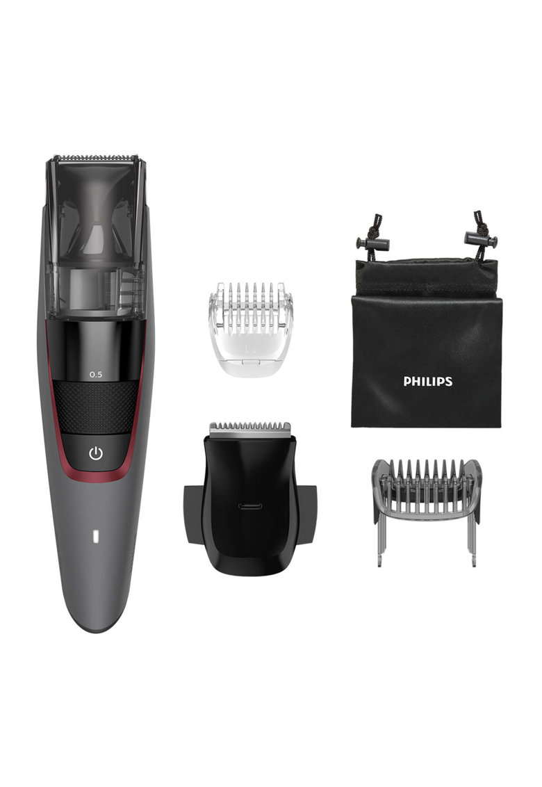 Aparat de tuns barba cu aspirare Seria 7000 - lame metalice - 20 trepte - functionare 100 minute - LED - Gri