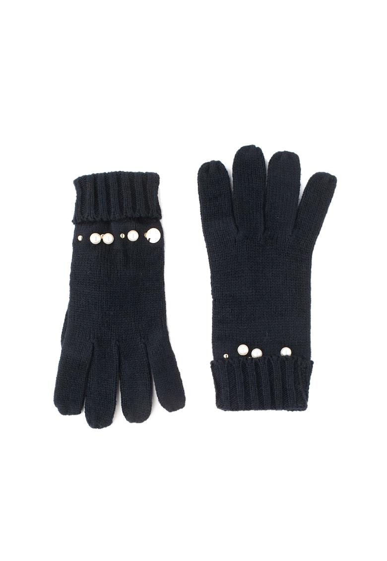 Liu Jo Manusi de tricot – decorate cu perle sintetice