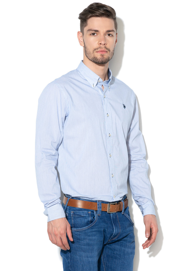 US Polo Assn Camasa regular fit cu model in dungi