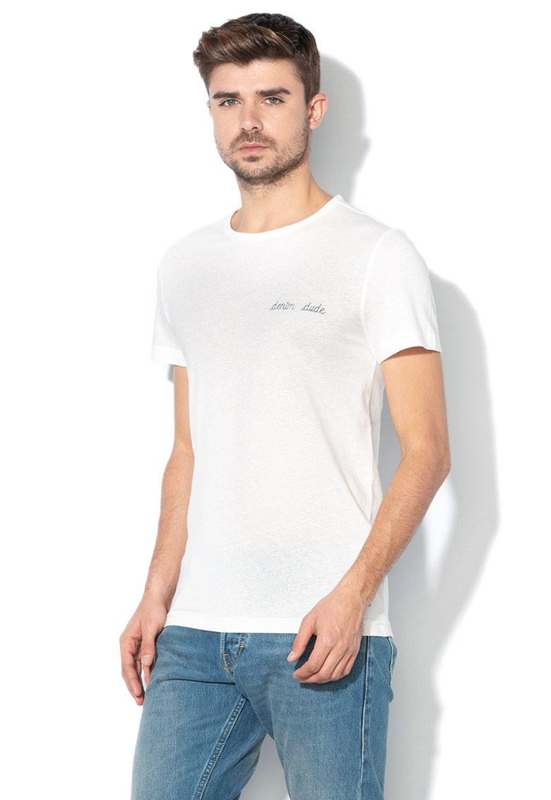 Mustang Tricou slim fit cu text brodat