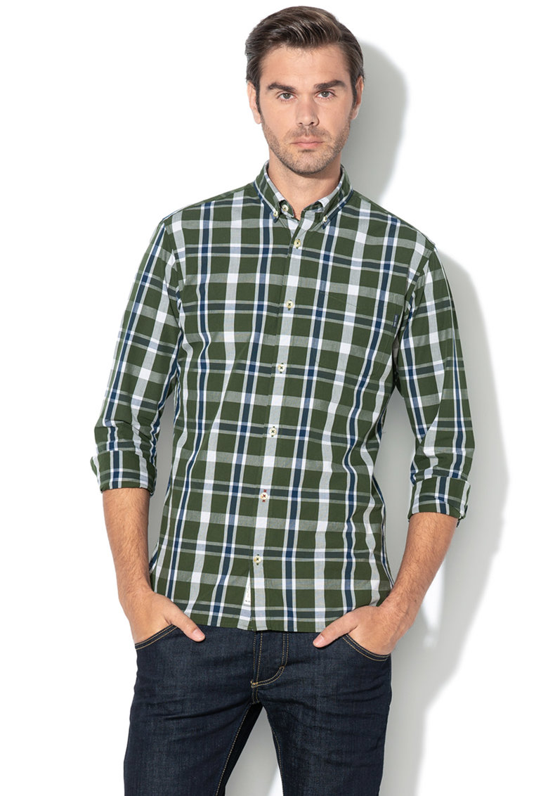 JackJones Camasa slim fit cu model in carouri George