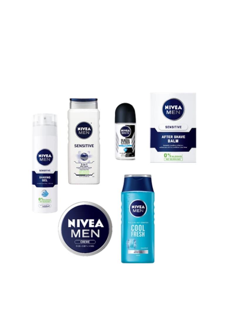 Pachet promo Sensitive: Gel de ras + After shave + Gel de dus + Crema + Sampon Active Clean + Deodorant roll-on