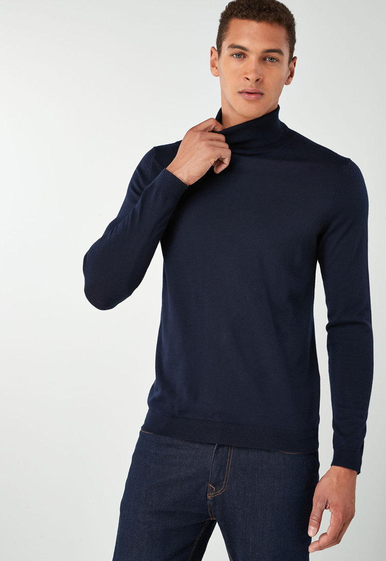 Pulover de lana cu guler inalt584944