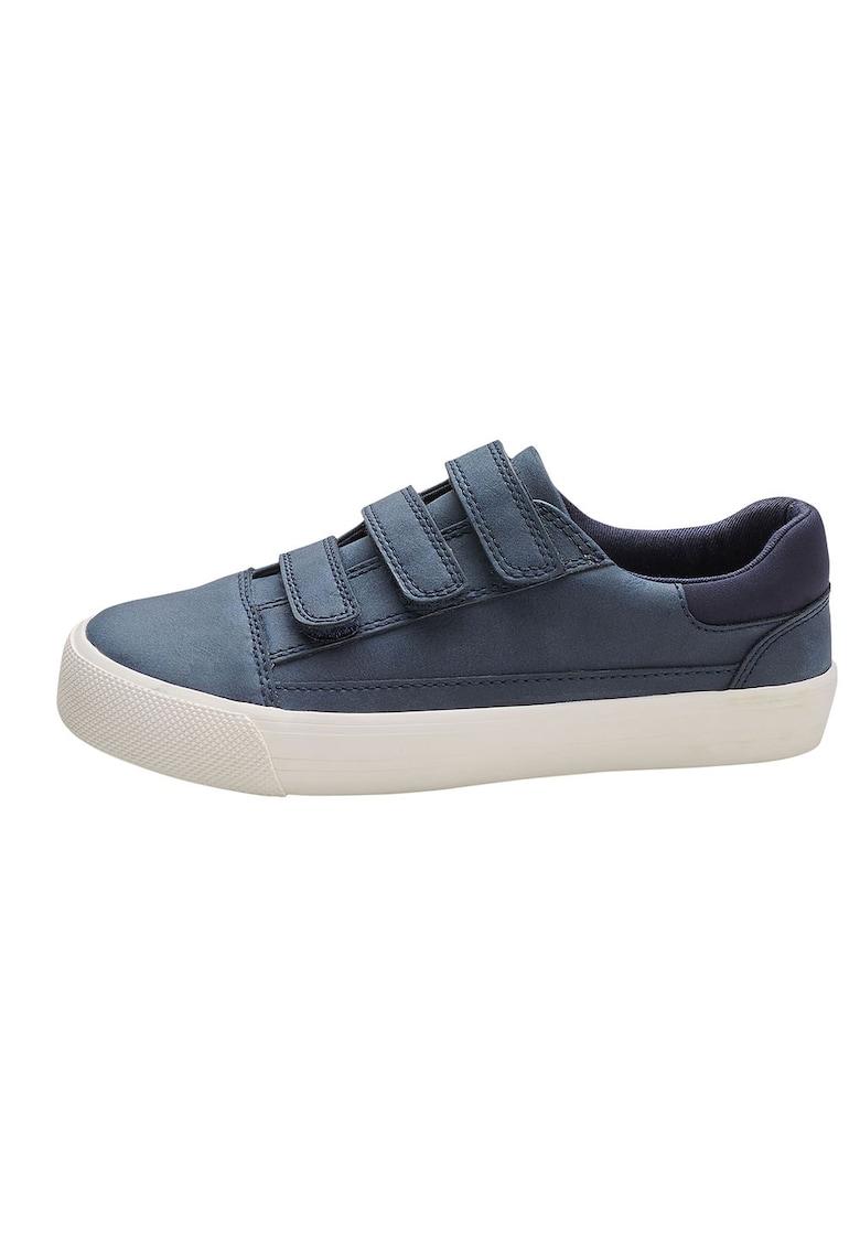 Pantofi sport de piele ecologica - cu benzi velcro
