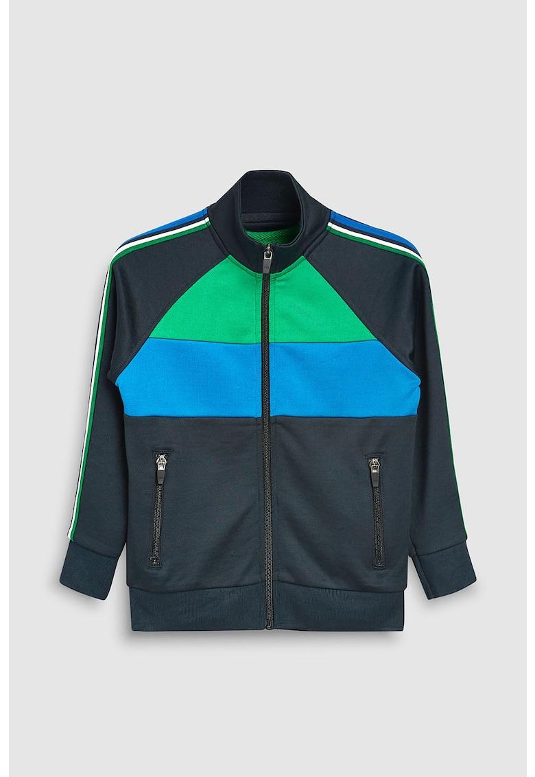Bluza sport cu fermoar si model colorblock de la NEXT