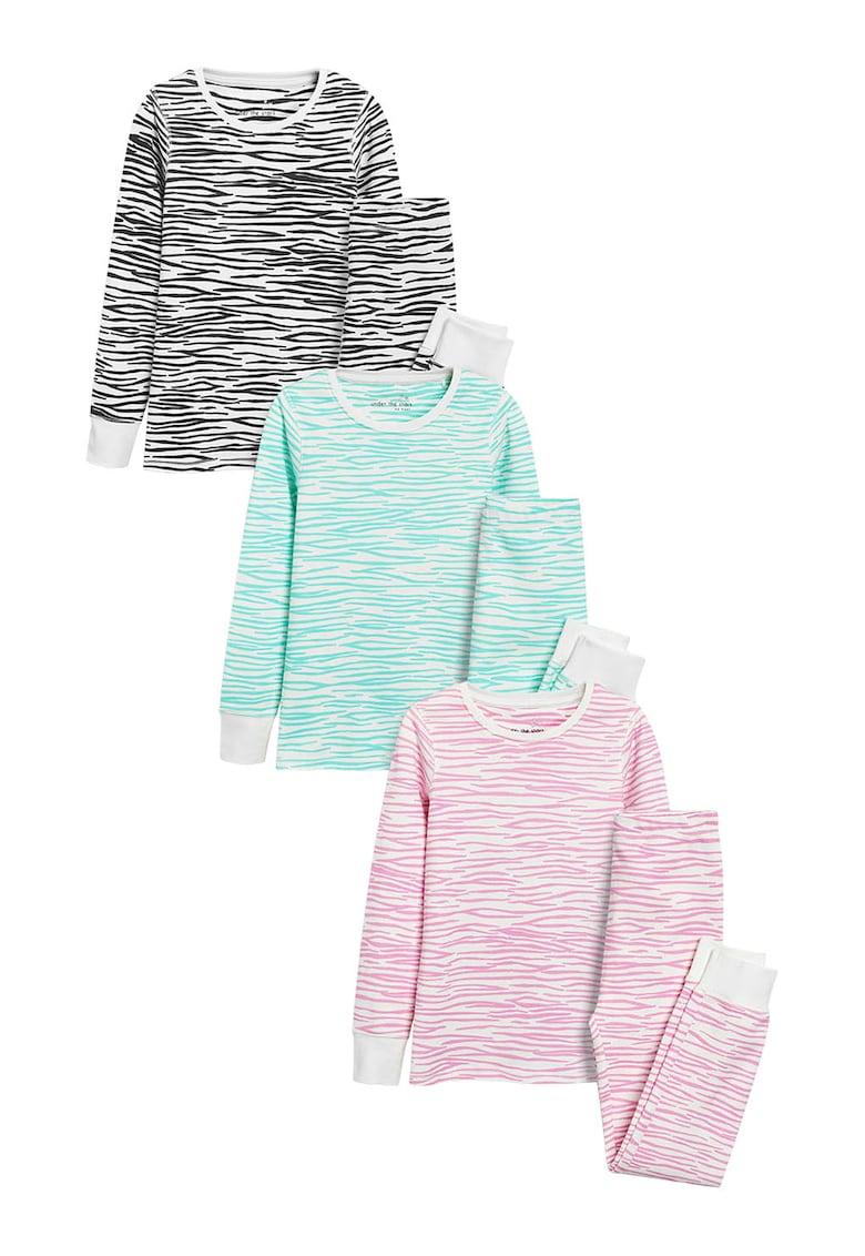 Set de pijamale cu imprimeu Zebra – 3 perechi de la NEXT
