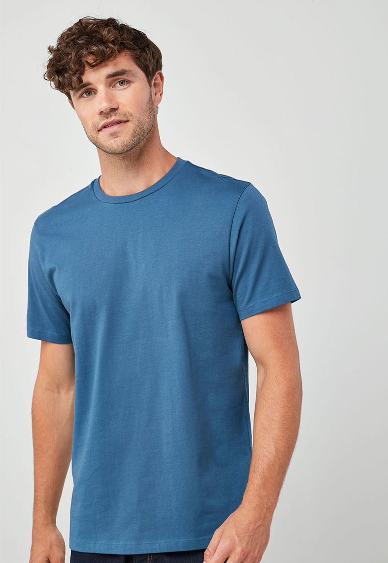 Tricou regular fit cu decolteu la baza gatului NEXT