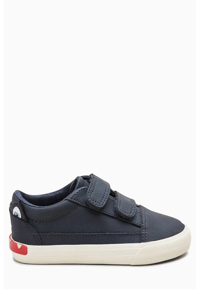 Pantofi sport de piele ecologica cu inchidere velcro