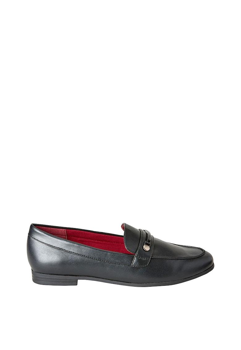 Pantofi loafer de piele ecologica – cu aplicatie decorativa NEXT