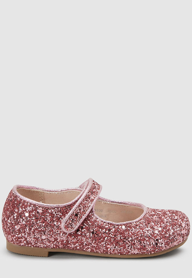 Pantofi Mary Jane cu aspect stralucitor
