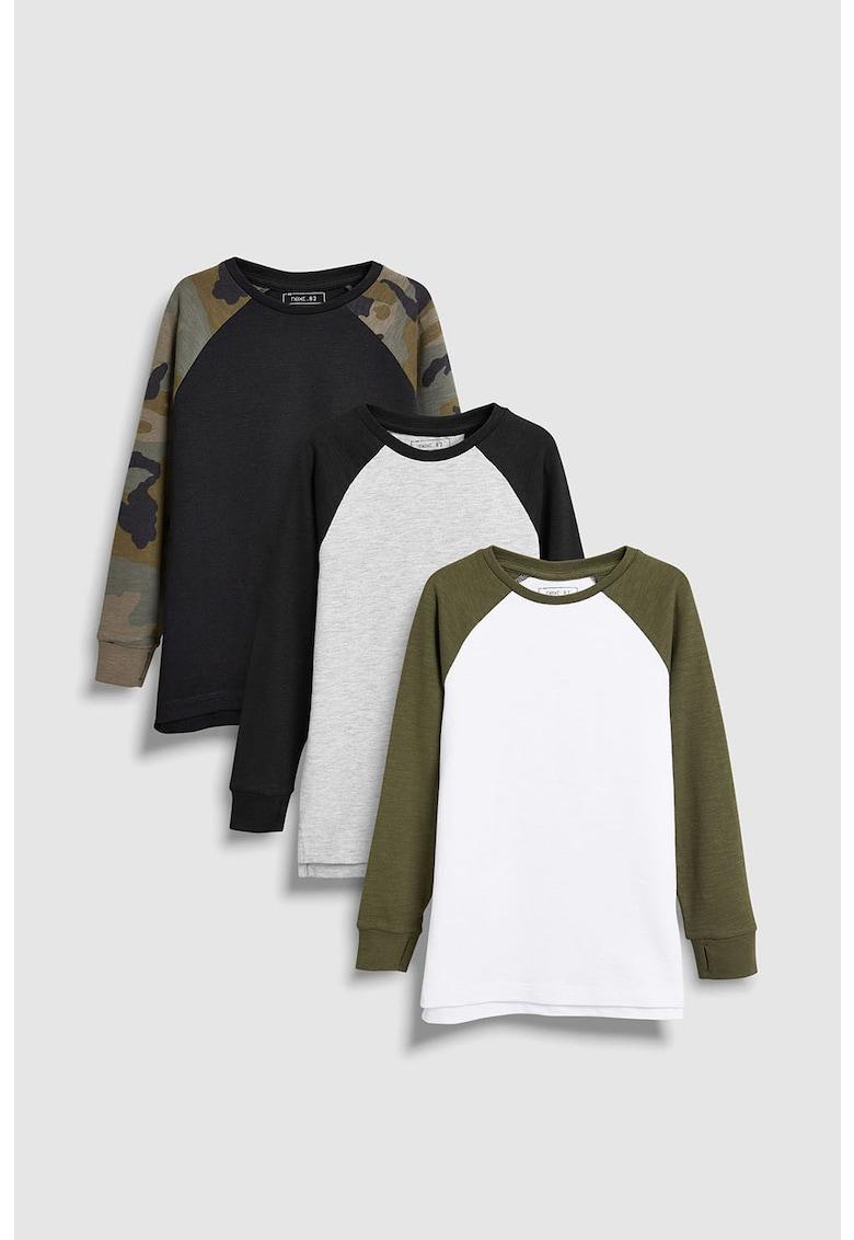 Set de bluze cu maneci raglan - 3 piese de la NEXT