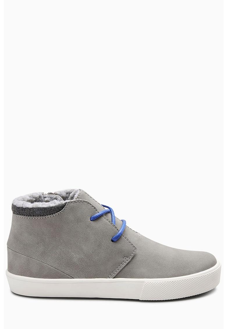 Pantofi sport chukka cu captuseala de blana shearling sintetica