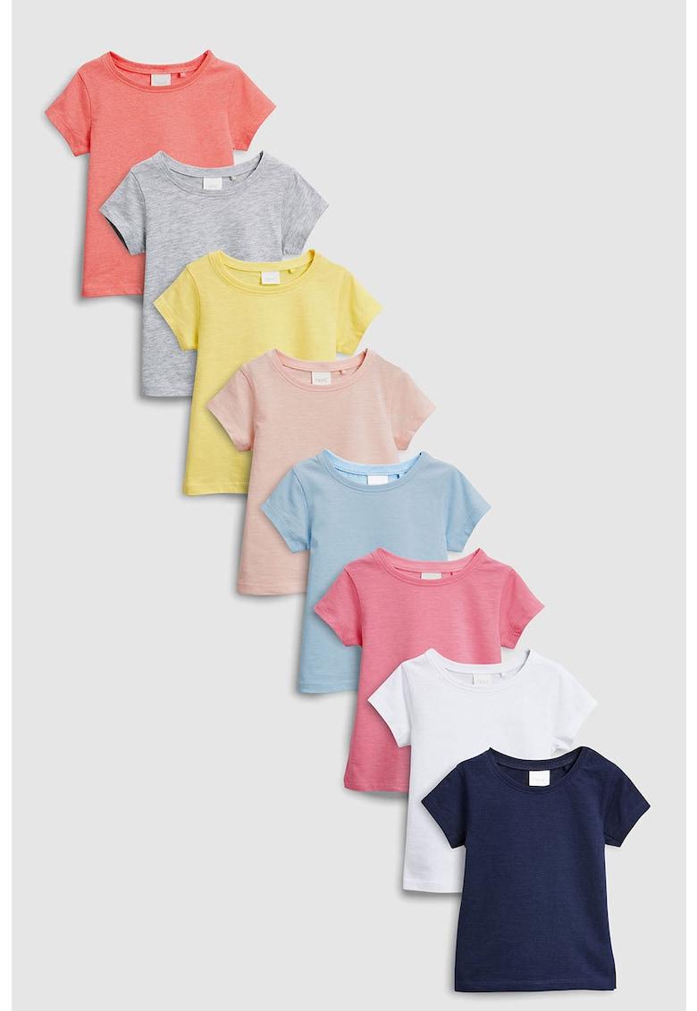 NEXT Set de tricouri cu decolteu rotund - 8 piese