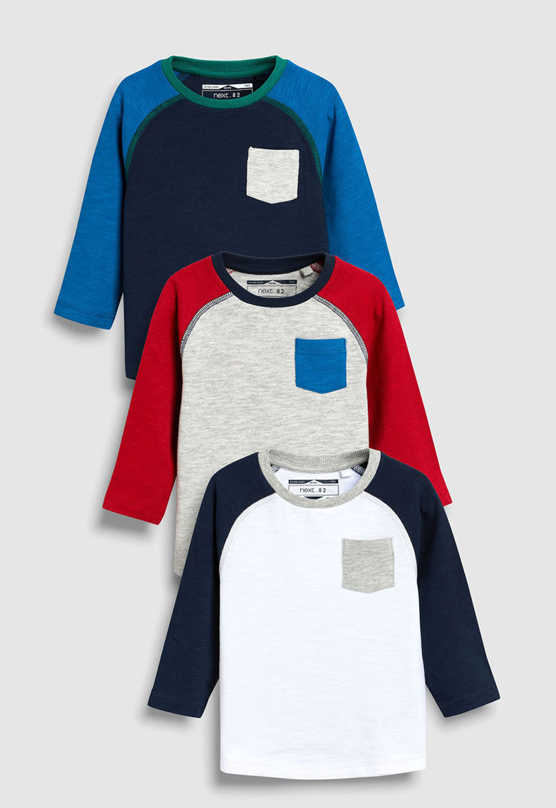 Set de bluze cu maneci raglan – 3 piese de la NEXT