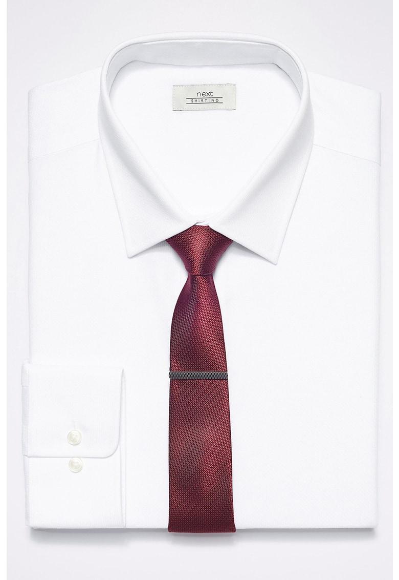 Set de camasa slim fit – cravata si clips de cravata – 3 piese de la NEXT