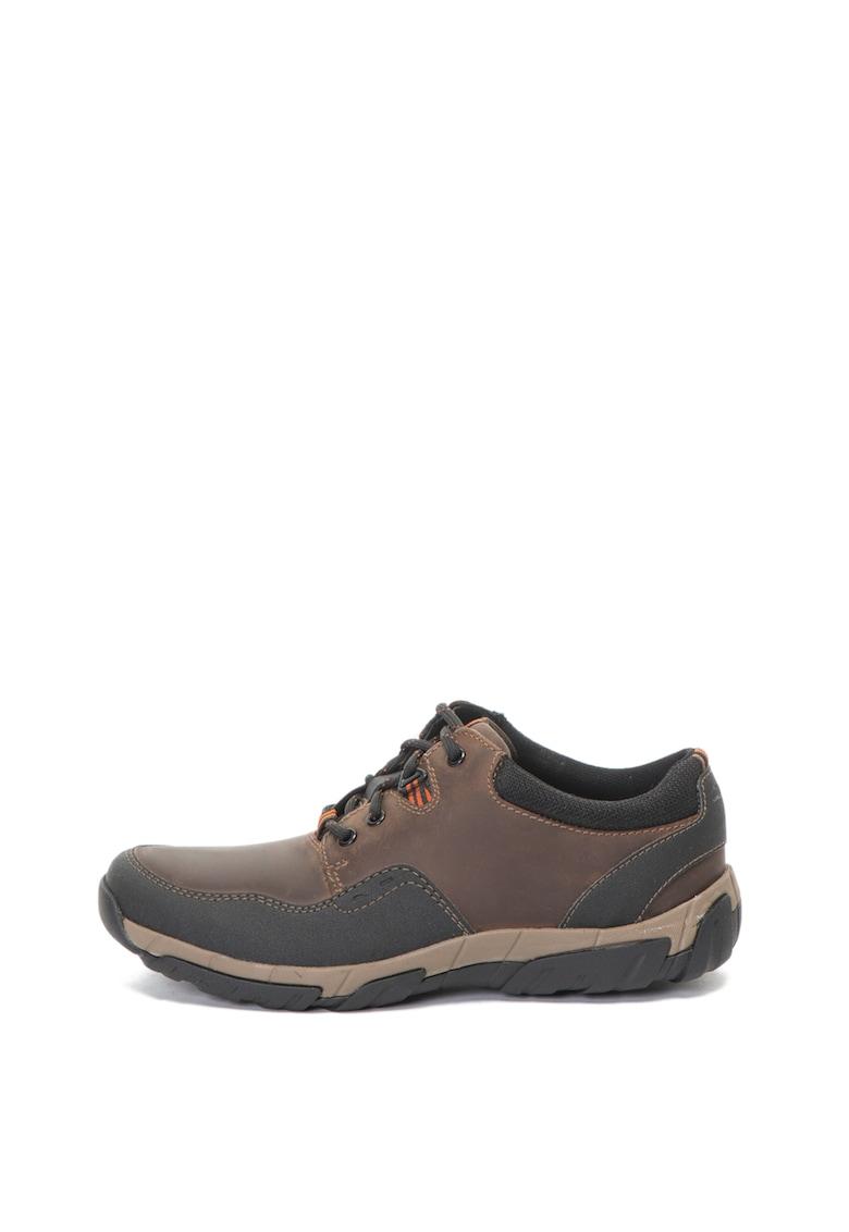 Clarks Pantofi casual de piele nabuc si material textil Walbeck Edge