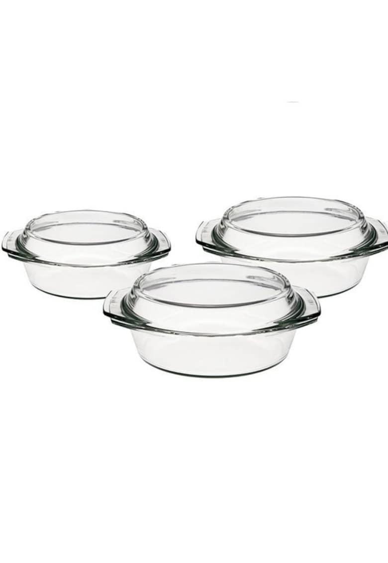 Set vase termorezistente 1l - 1.5l - 2l cu capac - 6 piese imagine fashiondays.ro