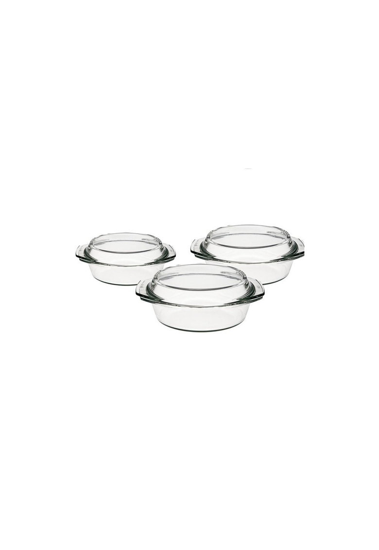 Simax Set vase termorezistente  1l - 1.5l - 2l cu capac - 6 piese