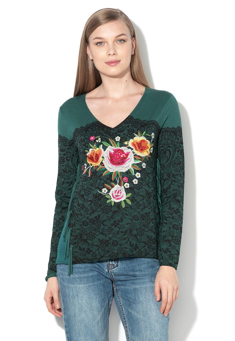 DESIGUAL Bluza cu imprimeu floral si aplicatii de paiete Manhathan