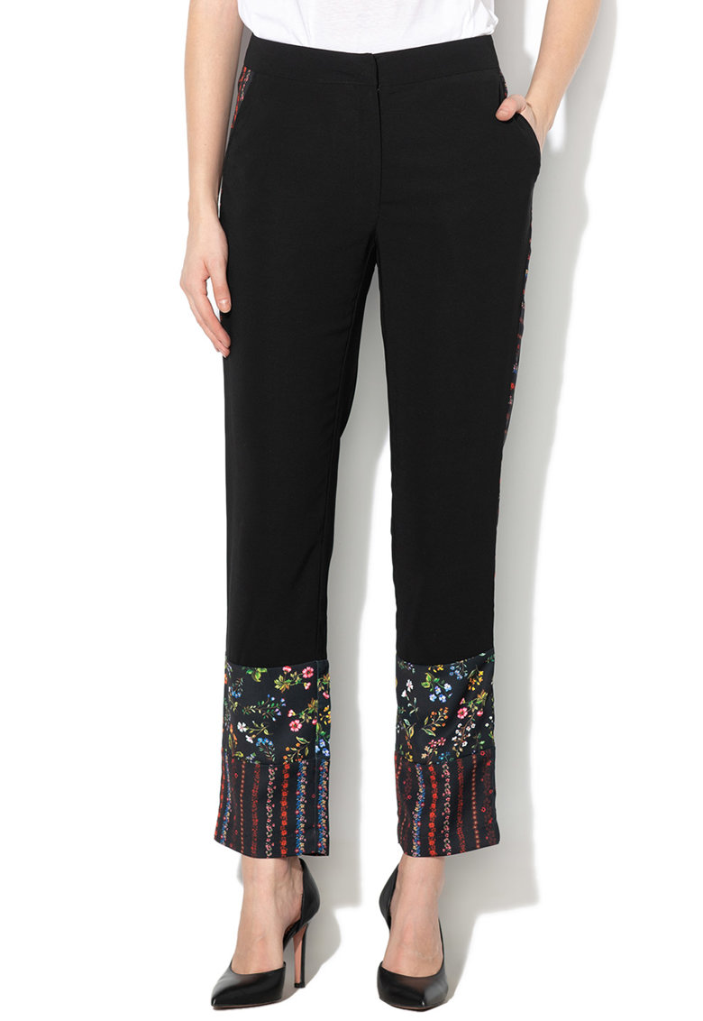DESIGUAL Pantaloni cu croiala dreapta si model floral Caper