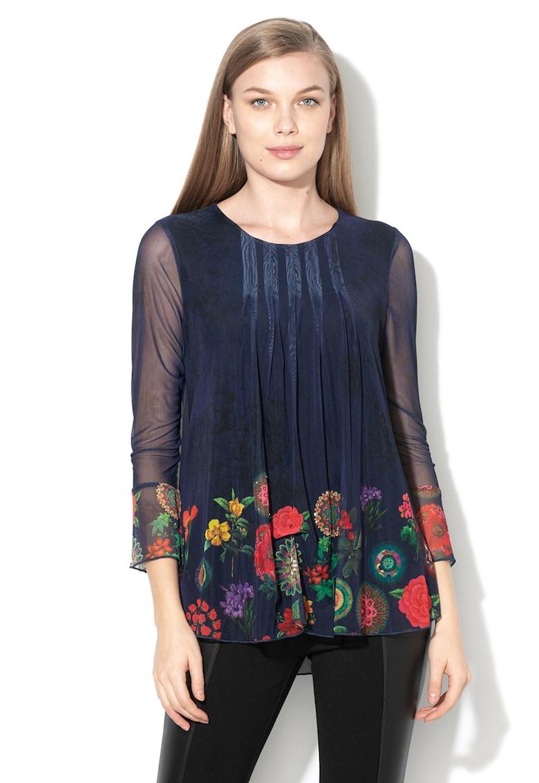 DESIGUAL Bluza cu strat exterior din plasa Rachel