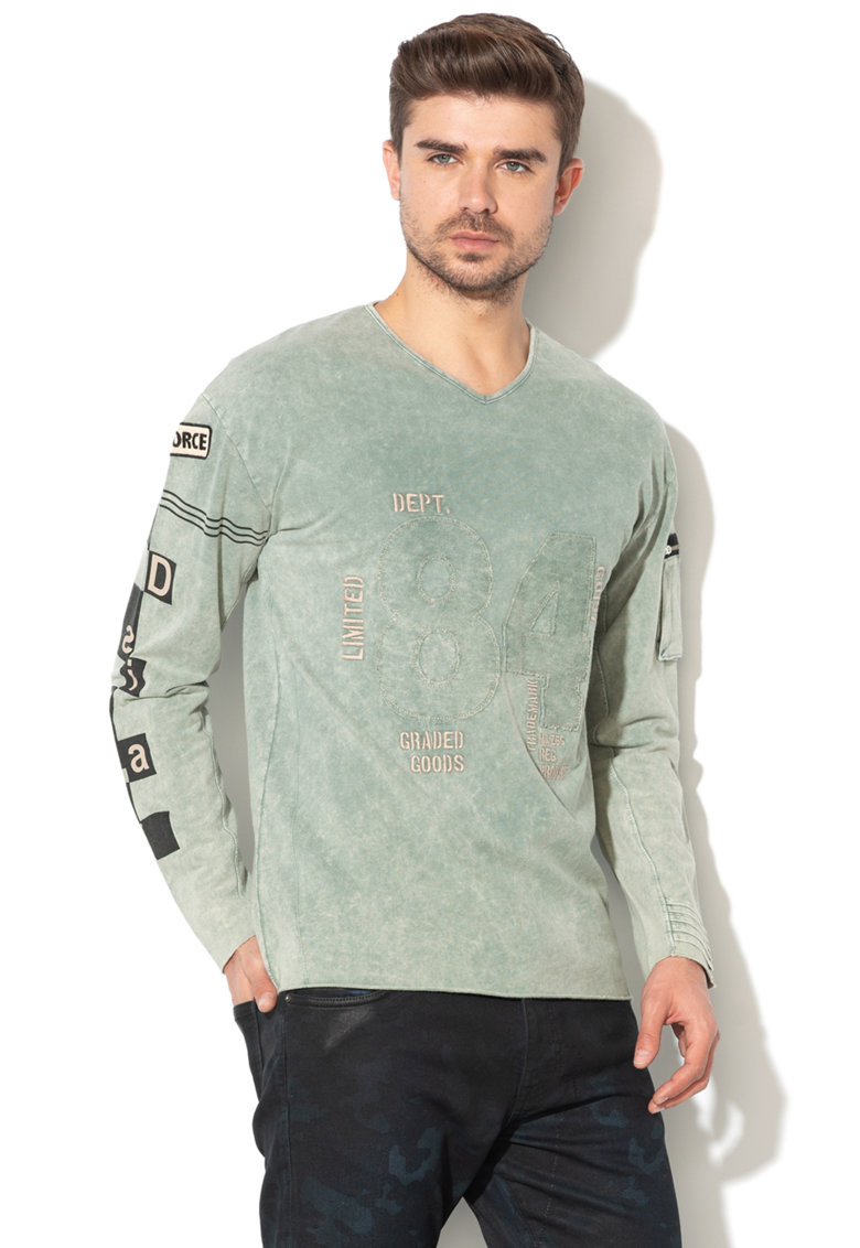 DESIGUAL Bluza cu broderie text Kelso