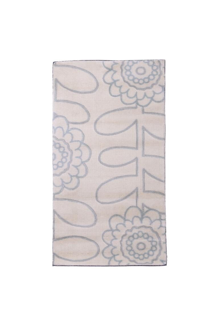 Covor 120 X 180 cm - trafic intens - fibre sintetice - décor floral - Bej imagine fashiondays.ro 2021