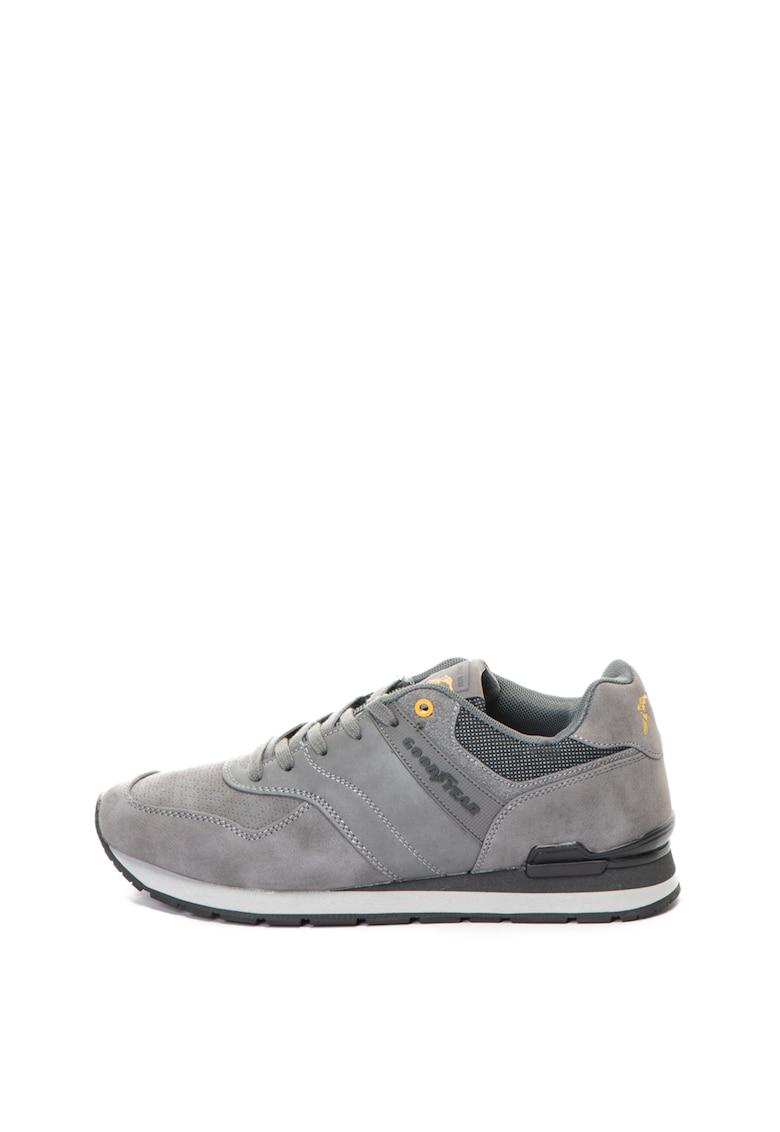 Goodyear Pantofi sport de piele ecologica – cu detalii perforate