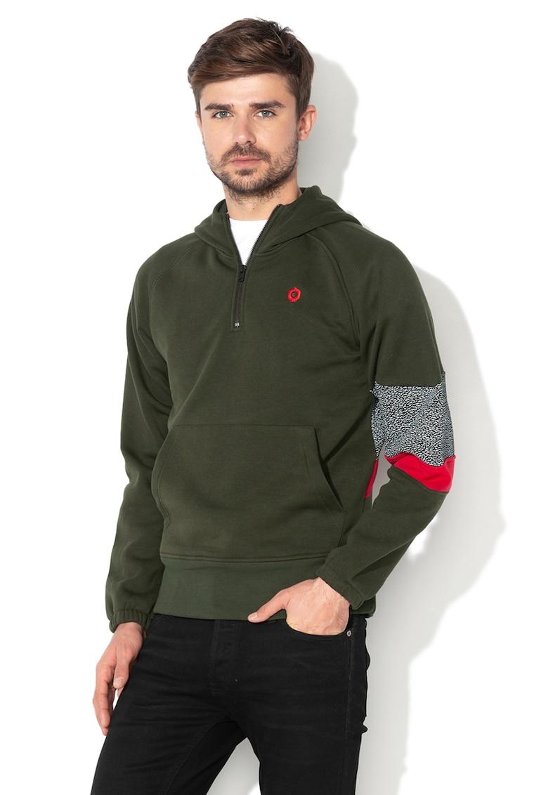 Hanorac colorblock cu captuseala de fleece Select de la JackJones