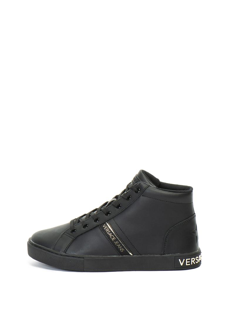 Versace Jeans Pantofi sport mid-hi – de piele