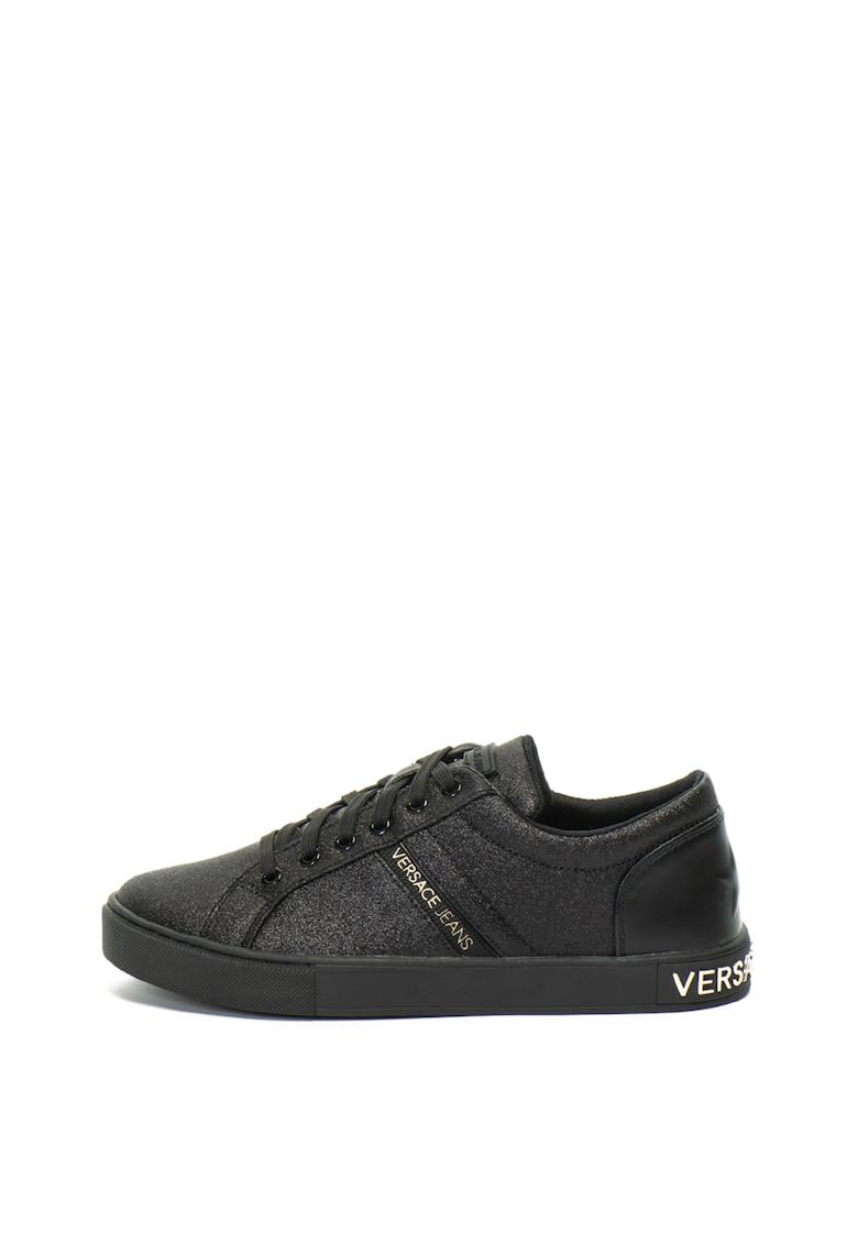 Versace Jeans Pantofi sport cu particule stralucitoare