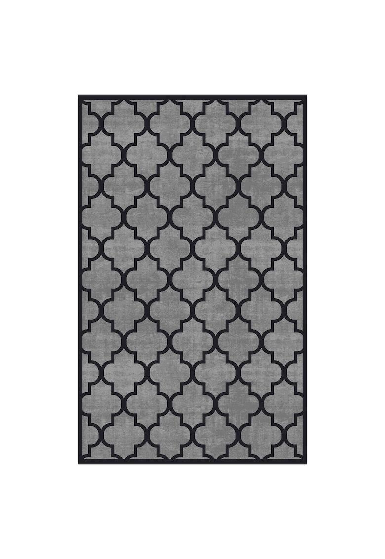 Covor CM 04 100% poliester - 160x230 cm - gri/negru imagine fashiondays.ro