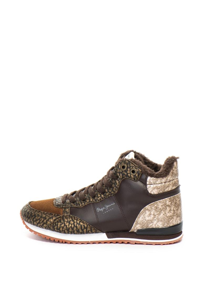 Pantofi sport mid-high cu garnituri de blana sintetica Gambel