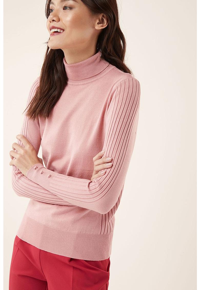 NEXT Pulover din tricot fin – cu detalii striate