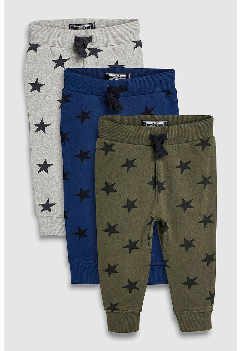 Set de pantaloni sport cu model cu stele – 3 perechi NEXT