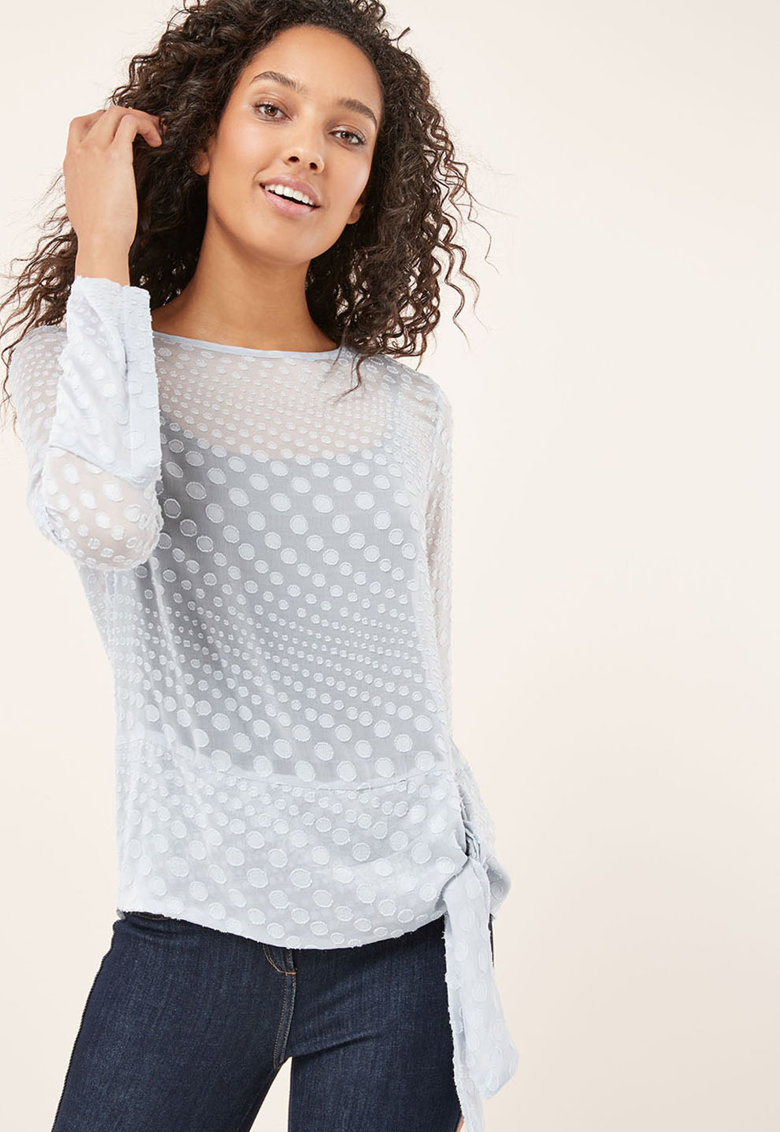 Bluza lejera cu aspect transparent