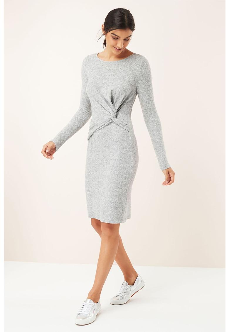 Rochie din tricot fin - cu model innodat