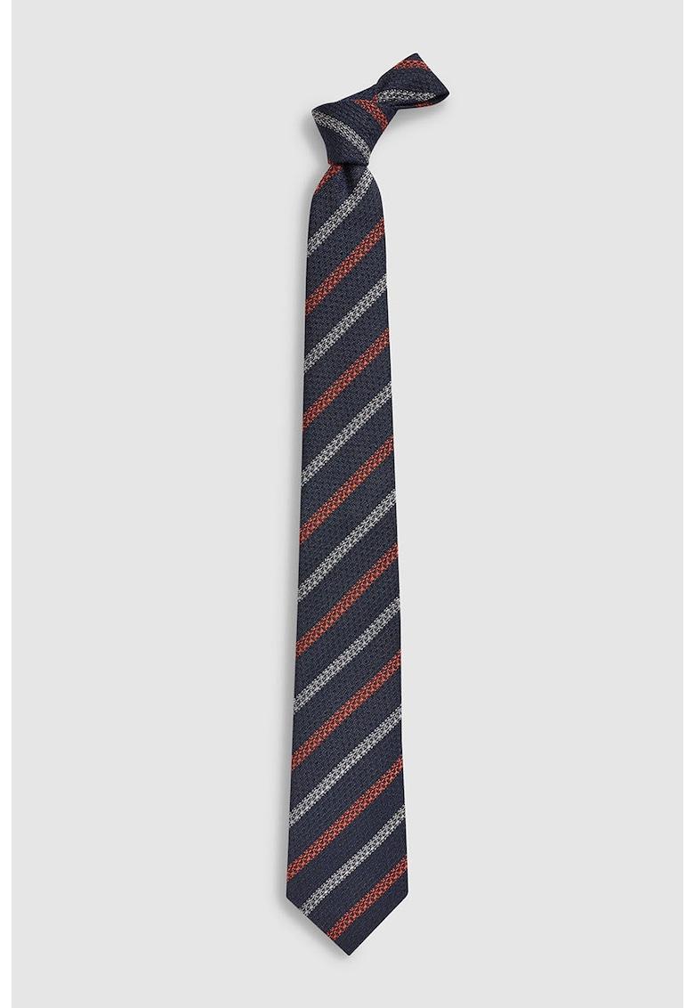 Cravata de lana si matase in dungi