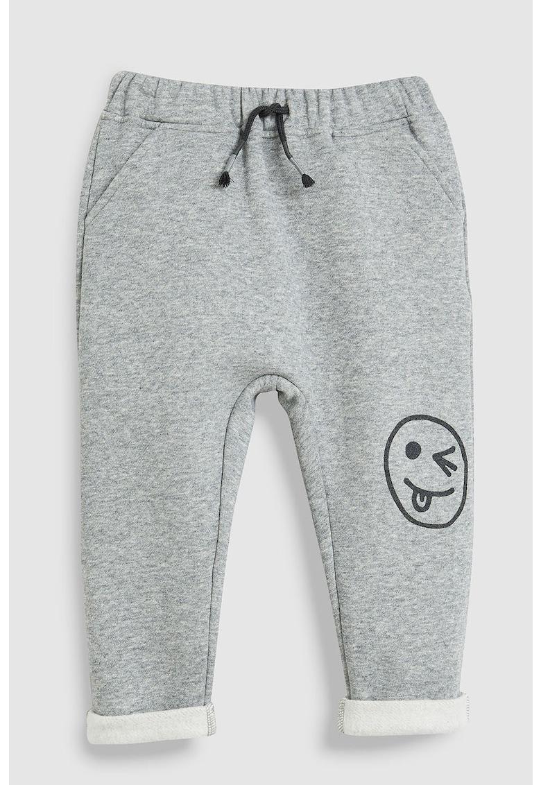 Pantaloni jogger cu imprimeu grafic